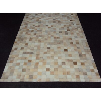 Patchwork Ivory Area Rug Rug Size: Rectangle 4 x 6