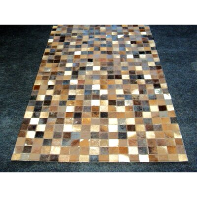 Patchwork Static Brown Area Rug Rug Size: Square 6