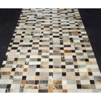 Patchwork Disruption III Neutral Area Rug Rug Size: Rectangle 5 x 8