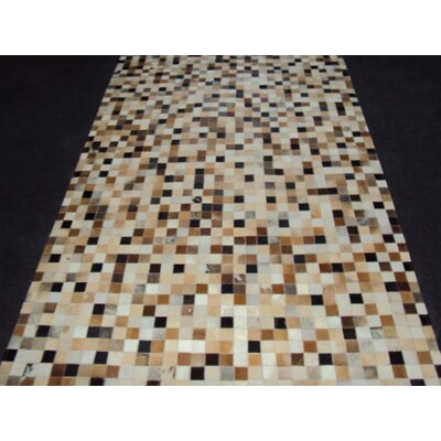 Patchwork Static IIII Brown Area Rug Rug Size: 5 x 8