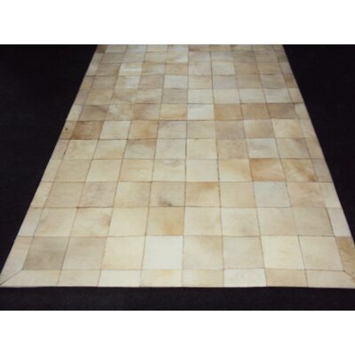 Patchwork Ivory Box Area Rug Rug Size: Square 4