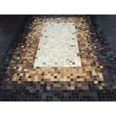 Patchwork the Brown Area Rug Rug Size: Rectangle 53 x 7