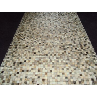 Patchwork Brown Area Rug Rug Size: Square 4
