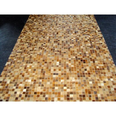 Patchwork Sandstone Area Rug Rug Size: Rectangle 4 x 6