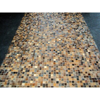 Patchwork Granite Brown Area Rug Rug Size: Square 4