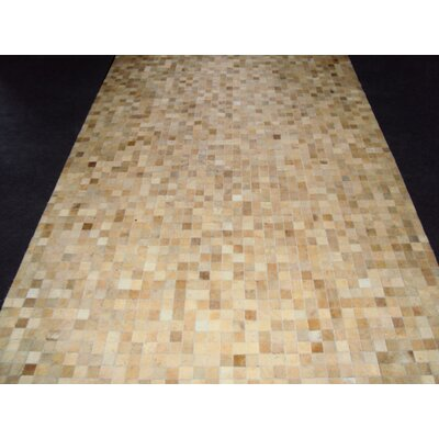 Patchwork Static II Neutral Area Rug Rug Size: Square 4