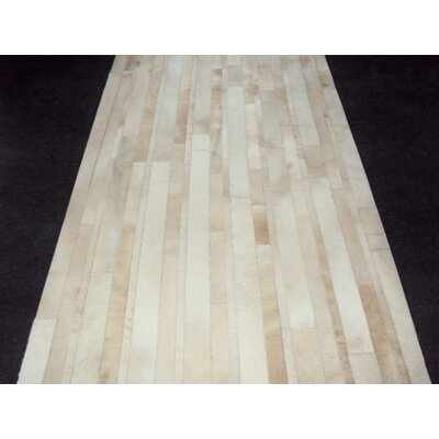 Patchwork Ivory Stave Area Rug Rug Size: Rectangle 36 x 63