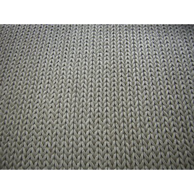 Braided Silver Area Rug Rug Size: Square 5
