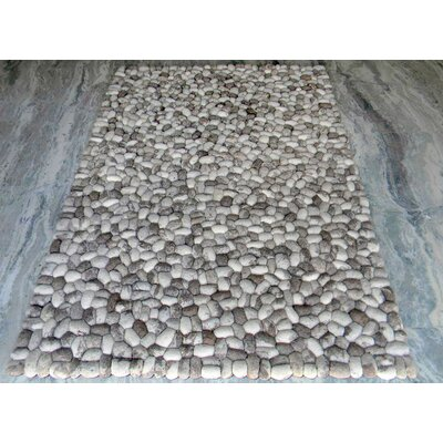 Pebbles Gray Area Rug Rug Size: Square 5