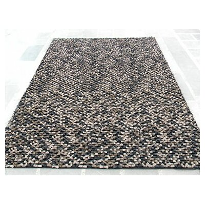Cobblestone Beige/Black Area Rug Rug Size: Rectangle 9 x 12