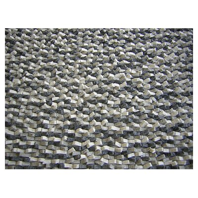 Cobblestone Coal Black Area Rug Rug Size: Square 8