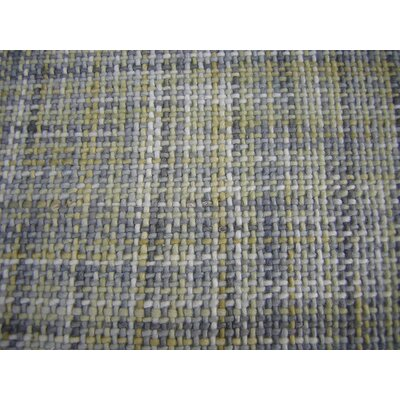Ripple Yellow/Gray Area Rug Rug Size: Square 5