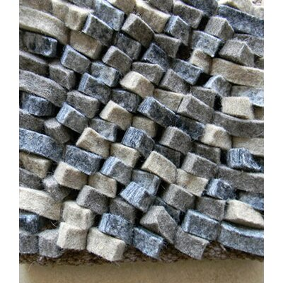 Cobblestone Coal/Silver Area Rug Rug Size: Rectangle 4 x 6