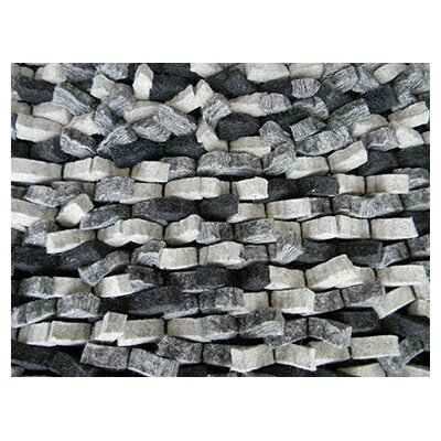 Cobblestone Silver Area Rug Rug Size: Rectangle 8 x 10