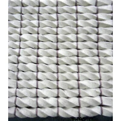 Tides White Area Rug Rug Size: Rectangle 9 x 12
