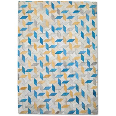 Yellow/Blue Area Rug Rug Size: Rectangle 6 x 9
