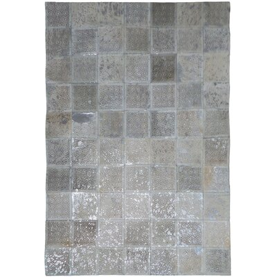 White/Silver Area Rug Rug Size: Rectangle 6 x 9