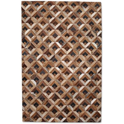 Brown/Tan Area Rug Rug Size: Rectangle 6' x 9'
