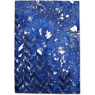 Blue/Silver Area Rug Rug Size: Rectangle 8 x 10