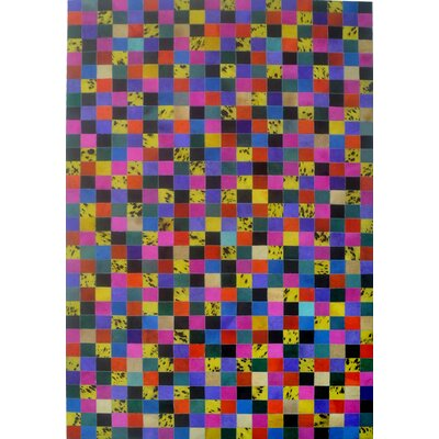 Pink/Yellow/Blue Area Rug Rug Size: Rectangle 6 x 9