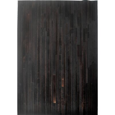 Dark Brown Area Rug Rug Size: Rectangle 8 x 10