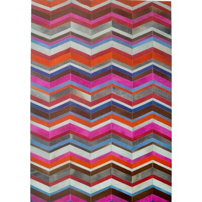 Pink/Orange/Brown Area Rug Rug Size: 5 x 8