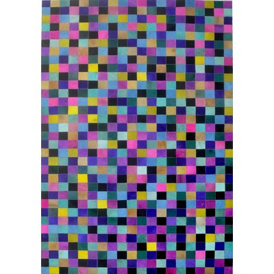 Blue/Yellow/Pink Area Rug Rug Size: Rectangle 9 x 12
