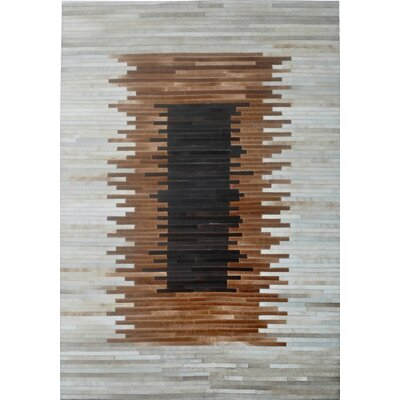 Brown/Beige Area Rug Rug Size: Rectangle 6 x 9