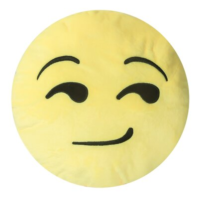 Emojee Heart Eyes Throw Pillow Finish: EMOJI PILLOWS - SMIRK