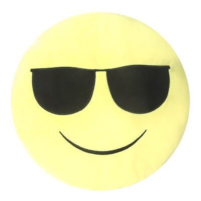 Emojee Heart Eyes Throw Pillow Finish: EMOJI PILLOWS - SUNGLASSES