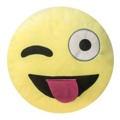 Emojee Heart Eyes Throw Pillow Finish: EMOJI PILLOWS - WINK