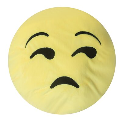 Emojee Heart Eyes Throw Pillow Finish: EMOJI PILLOWS - SAD