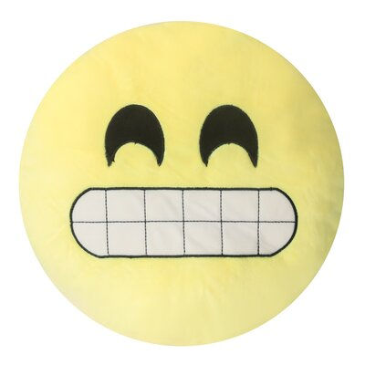 Emojee Heart Eyes Throw Pillow Finish: EMOJI PILLOWS - TEETH