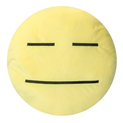 Emojee Heart Eyes Throw Pillow Finish: EMOJI PILLOWS - NO EXPRESSION