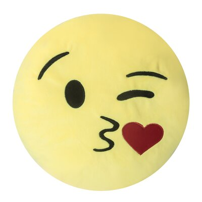 Emojee Heart Eyes Throw Pillow Finish: EMOJI PILLOWS - KISS HEART