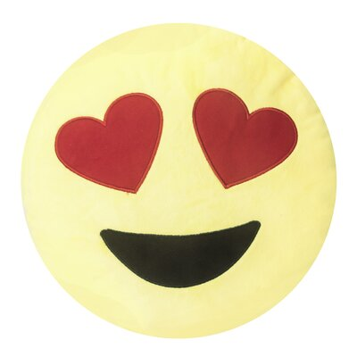 Persephone Emojee Heart Eyes Throw Pillow Finish: EMOJI PILLOWS - HEART EYES