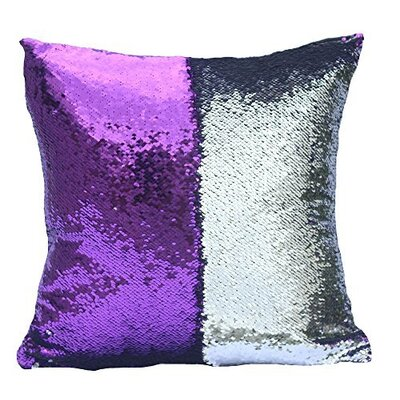 Mermaid Pillow Cover Color: Purple/Silver