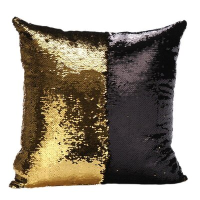 Mermaid Pillow Cover Color: Gold/Black