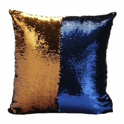 Mermaid Pillow Cover Color: Gold/Blue
