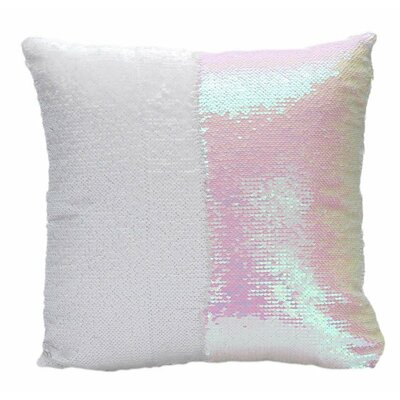 Mermaid Pillow Cover Color: White/Pink
