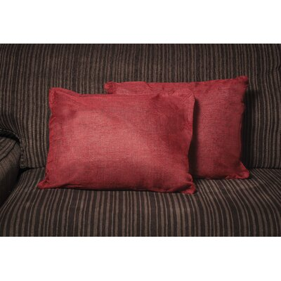 Gatling Rectangle Throw Pillow Color: Red