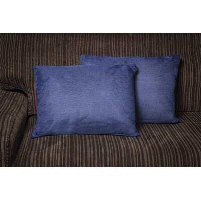 Gatling Rectangle Throw Pillow Color: Blue