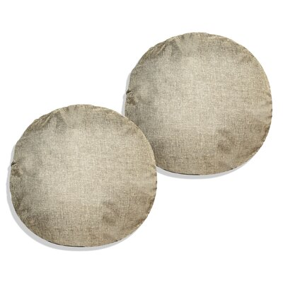 Gately Round Throw Pillow Color: Olive Green