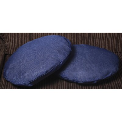 Gately Round Throw Pillow Color: Blue