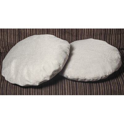 Gately Round Throw Pillow Color: Gray