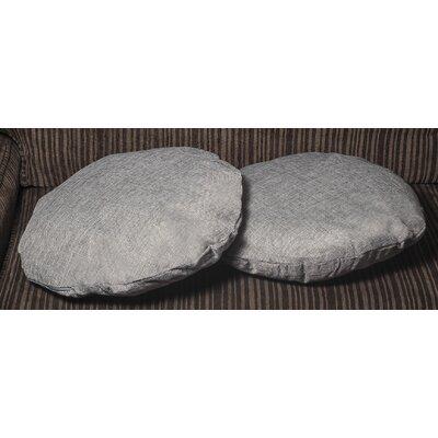 Gately Round Throw Pillow Color: Dark Gray
