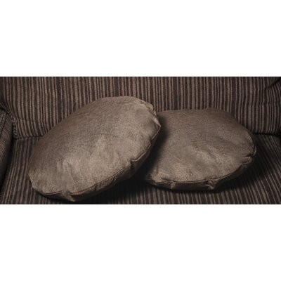 Gately Round Throw Pillow Color: Dark Brown
