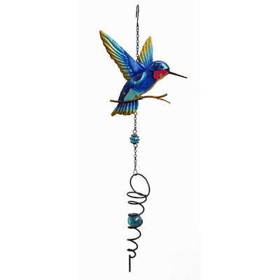 Hummingbird Spinner Wind Chime Color: Blue