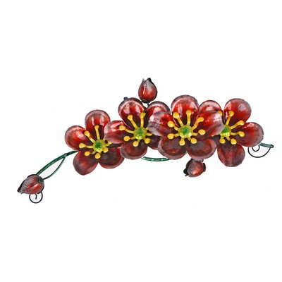 Image of Glass/Metal 4 Flower Tabletop Fountain