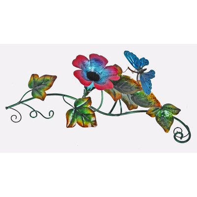 Image of Butterfly Glass/Metal Flower Tabletop Fountain